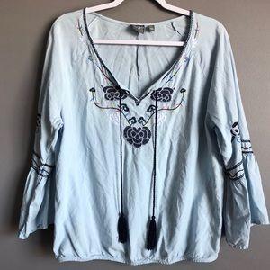 Soho Jeans NY & Co • Embroidered Blouse